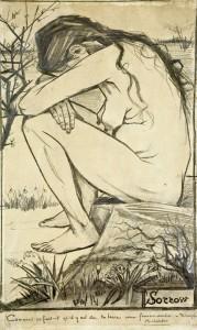 Zanimljivosti o umetnicima i njihovim delima - Page 6 Sorrow-black-chalk-44.5-x-27-cm-179x300